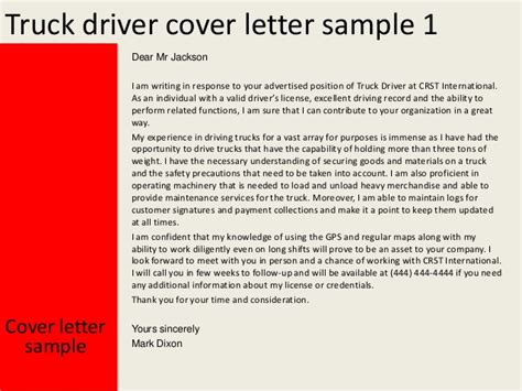 application letter truck driver truck driver cover letter