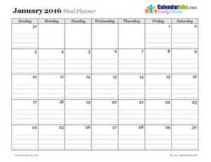 Planner Calendar Template by 2016 Monthly Menu Planner 03 Free Printable Templates