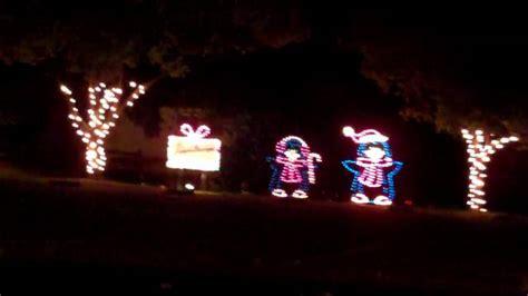christmas lighting vasona park los gatos ca 2009 wmv