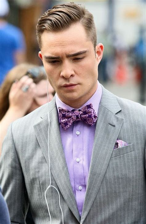Chuck Bass Hairstyle by Suit Great Color Combination And Superb Bow Tie