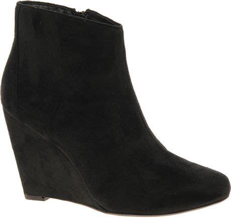 asos asos awake wedge ankle boots in black lyst