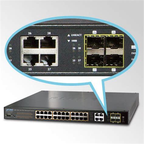 what is a port 24 port 10 100 1000mbps poe 4 port gigabit tp sfp combo