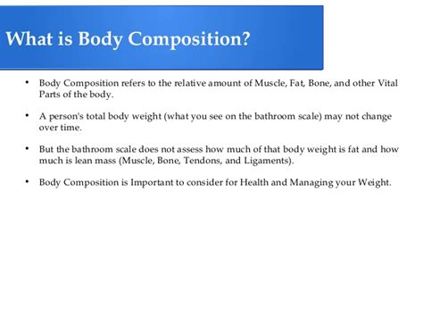 What Is Composition by The Five Components Of Health Related Fitness