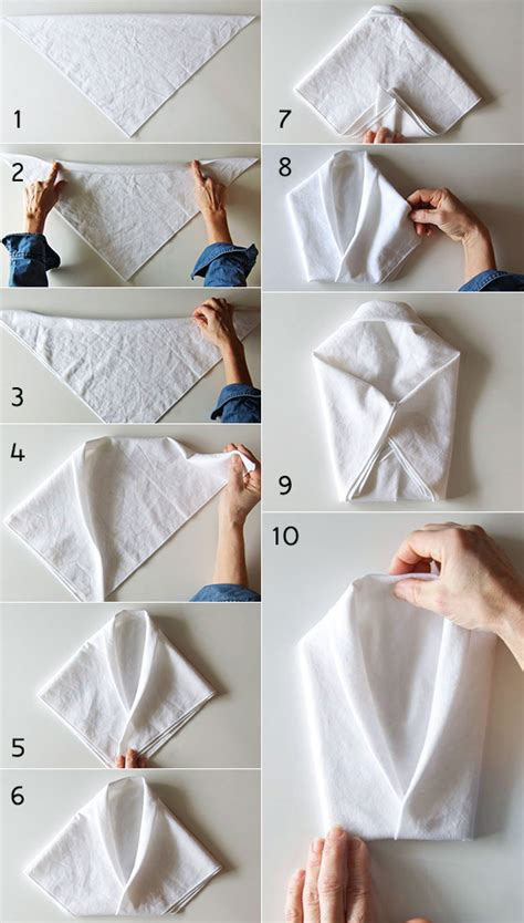 servietten festlich falten servietten falten interessante ideen und