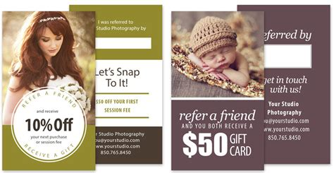 free photography referral card templates customer referral marketing for photographers