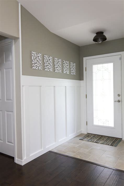 Board And Batten Wainscoting Ideas by Building A Home Remodeling Foyer Board Batten Reveal