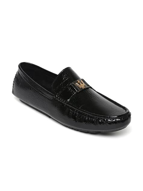 loafers shoes for myntra buy san frissco black patent loafers casual shoes