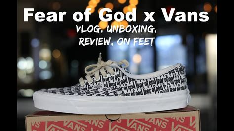 Sepatu Vans Fear Of God staying overnight for the fear of god fog x vans collab