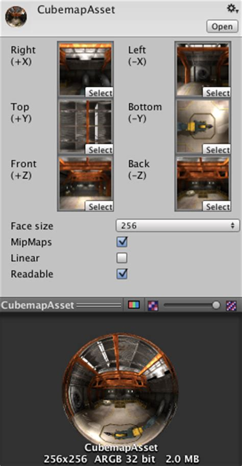 unity cubemap layout unity manual cubemap