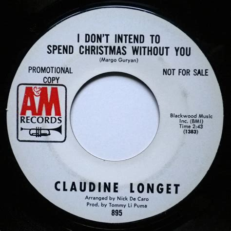 claudine longet christmas song 22 december claudine longet i don t intend to spend