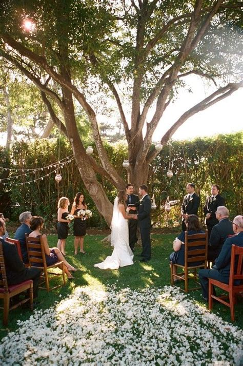 Cost Of A Backyard Wedding by Budget Backyard Ceremony Decorations The Backyard Wedding