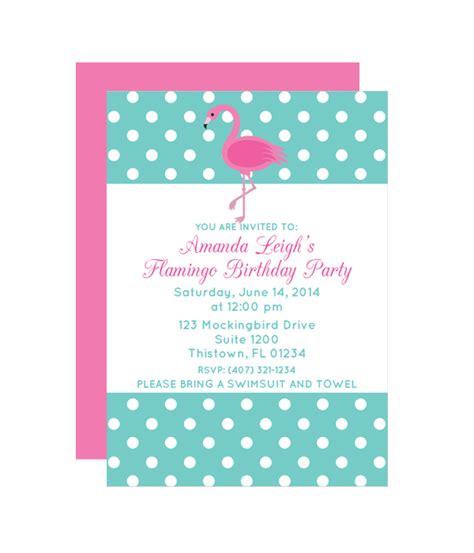 Polka Dot Flamingo Party Invitation Chicfetti Flamingo Invitation Template Free