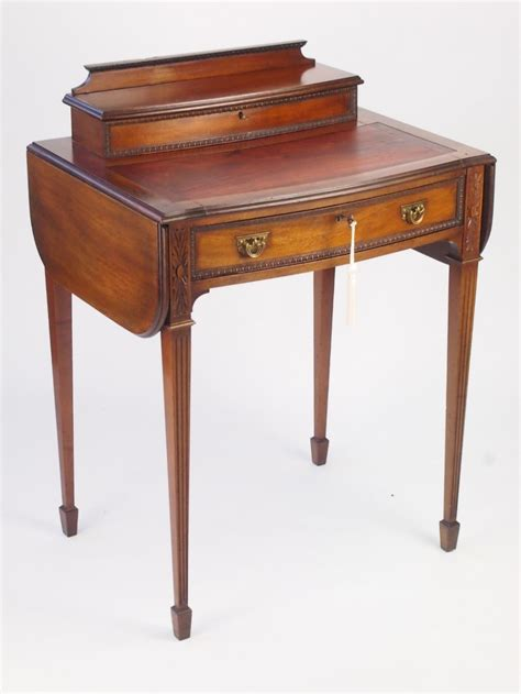 Small Antique Writing Desk Small Antique Mahogany Ladys Writing Desk Davenport 307277 Sellingantiques Co Uk