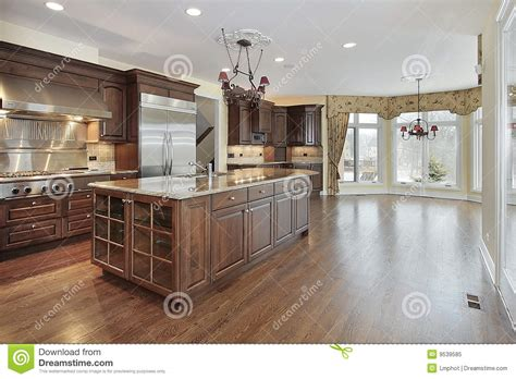 kitchen with eating area and island stock photography kitchen and eating area royalty free stock photo image