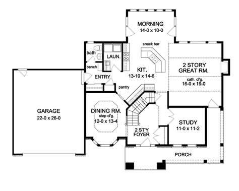 two story great room house plans quotes