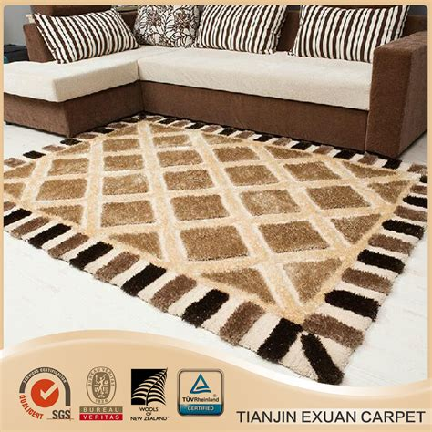 Microfiber Living Room Rugs Modern Design Microfiber Pattern Shaggy Rug For Living