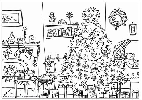 coloring pages christmas detailed christmas coloring book