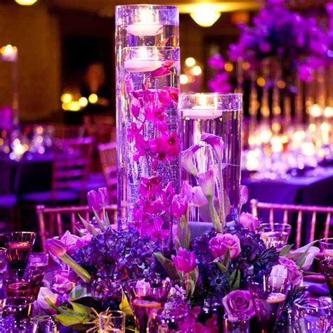 purple flower arrangements centerpieces purple floral centerpieces