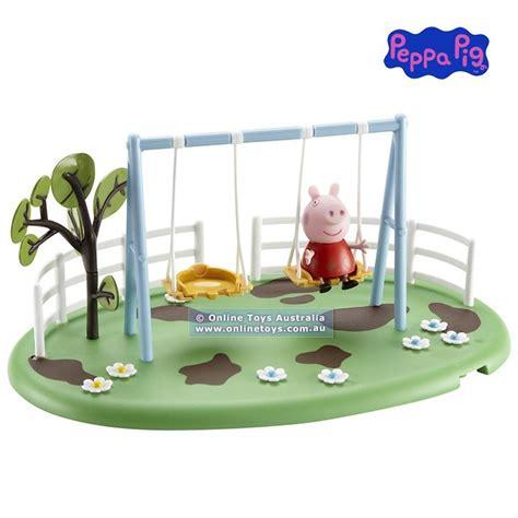 peppa pig swing playset peppa pig playground playset swing online toys australia