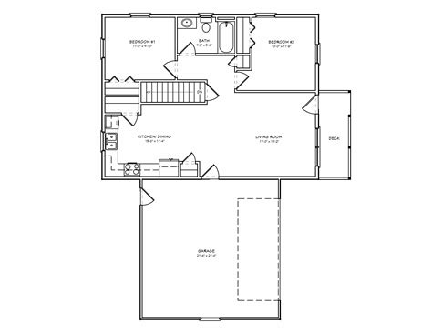 Small 2 Bedroom 2 Bath House Plans | small house plan d67 884 small 2 bedroom houseplan cabin