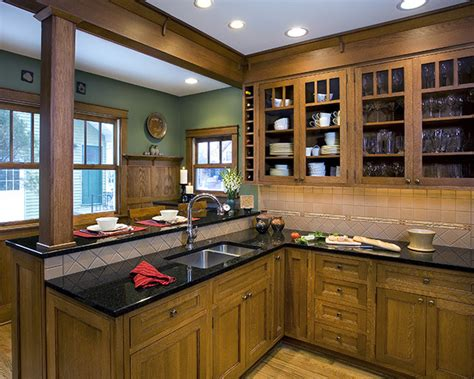 arts and crafts kitchen design royal oak arts crafts kitchen mi traditional