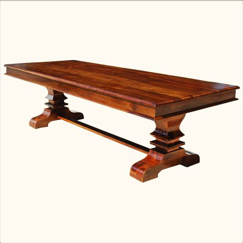 rustic transitional large seats 10 solid wood trestle