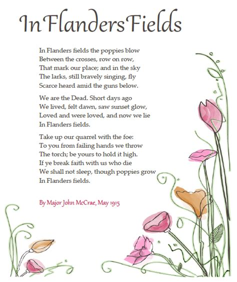 printable version of flanders fields flanders fields poem www imgkid com the image kid has it