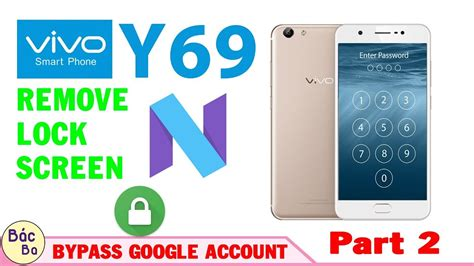 vivo y69 remove lock screen pattern lock and frp done vivo y69 remove lock screen and bypass google account