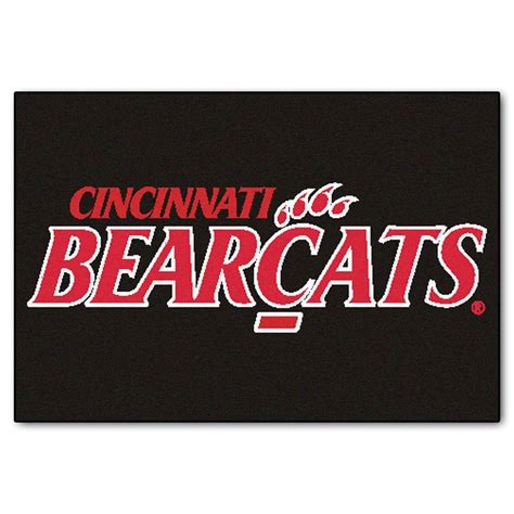 fanmats ncaa of cincinnati bearcats logo black