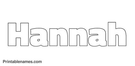 hannah coloring pages letters hannah colouring pages