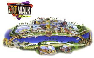 Citywalk Orlando Map by Theme Park Page Park Map Archive