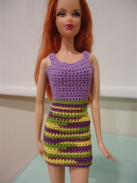 dress pattern hooks barbie simple sheath dress free crochet pattern