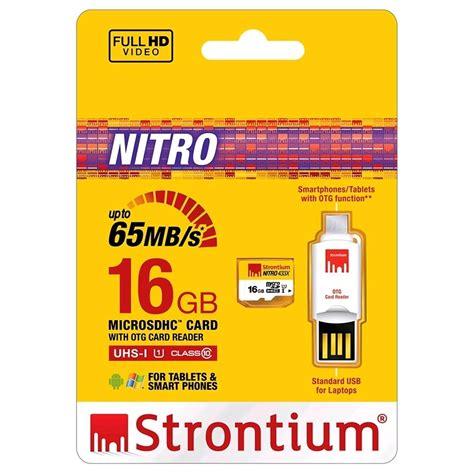 Strontium Nitro Micro Sd Hc 70mbs Class 10 32gb Otg Reader 32 Gb strontium nitro 433x microsdhc uhs 1 65mb s class 10 16gb