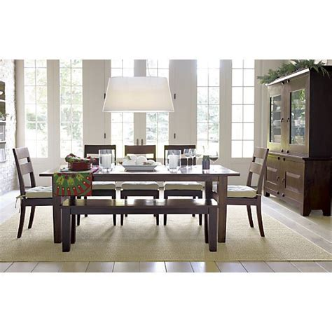 basque java 82 quot dining table crate and barrel crates