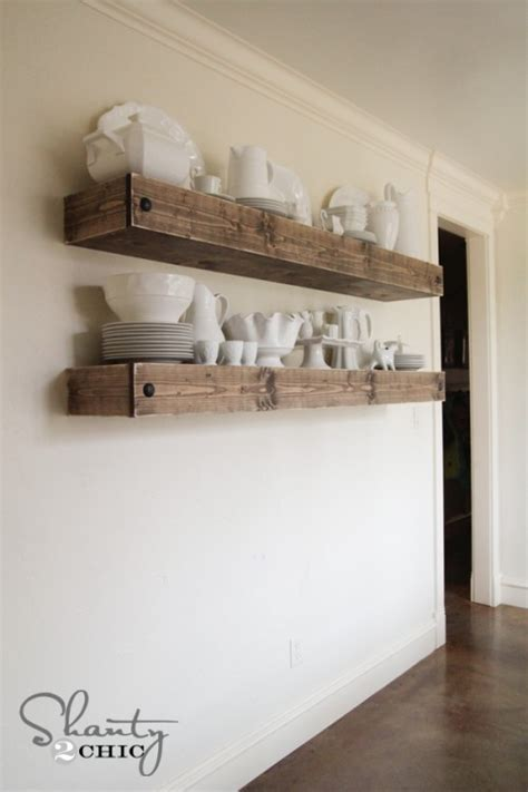 tuesday s tips use floating shelves cabinets to create fabulous diy kitchen cabinet and shelf ideas to give your