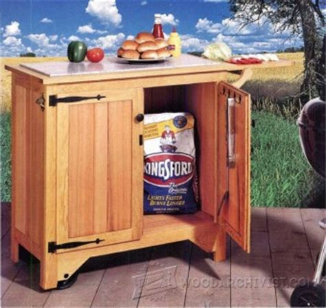 grill cart plans woodarchivist