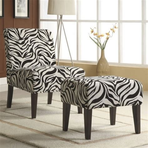 zebra chair and ottoman zebra chaise lounge chair and ottoman set print picture 36