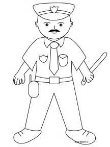 17 dessins de coloriage policier 224 imprimer