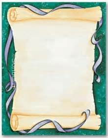 Free scroll border designs for paper