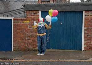 northton clown unmasked pictured preparing for