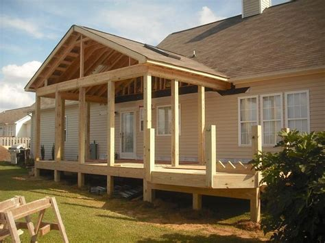 how to build a frame for a porch swing porch roof framing details pro built construction deck