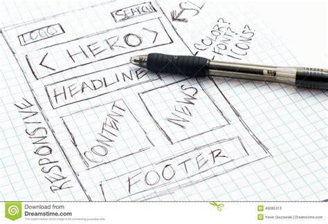 sketchbook website design responsive web design sketch stock illustration image