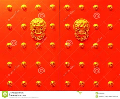 Frontdoor by Chinese Red Door Royalty Free Stock Photos Image 27450688