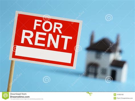 Apartments For Rent With No Credit Or Background Check Real Estate For Rent Sign Stock Photo Image 41893185