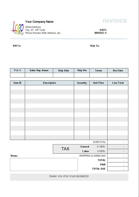 tax invoice template south africa invoice exle