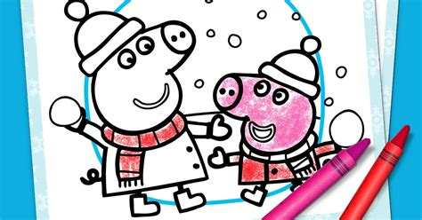 stay warm with a printable peppa pig winter coloring pack 77 stay warm with a printable peppa pig winter coloring
