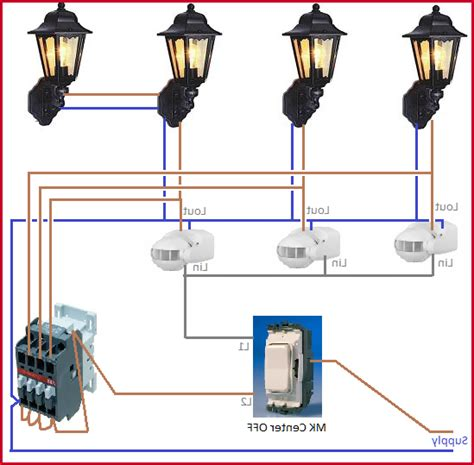 Outside Lights On A Timer Wiring Diagram Light Fixture How To Wire Outdoor Lights