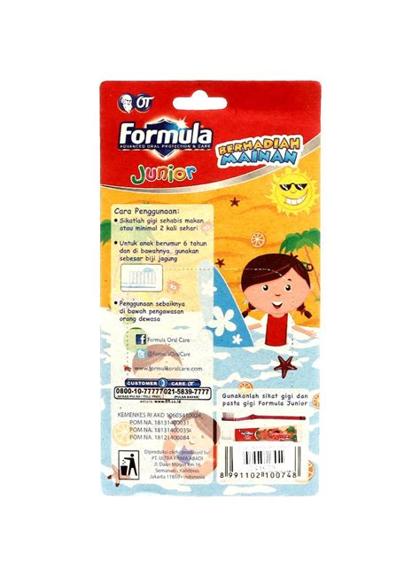 Pasta Gigi Formula formula pasta gigi gel jnr sikat gift orange pck klikindomaret