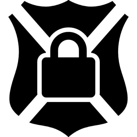 Shields Lock In by Shield Symbol With Lock Icons Free
