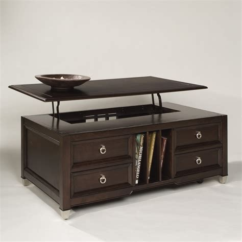Lift Coffee Table Magnussen T1124 Darien Wood Lift Top Coffee Table Coffee Tables At Hayneedle